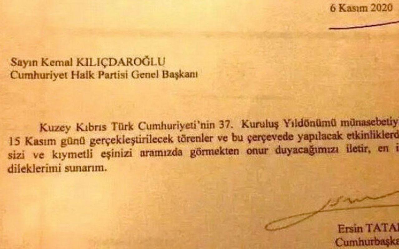 CHP'ye gönderilen davetiye ortaya çıktı