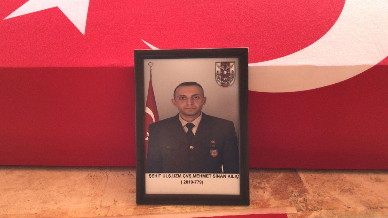 Irak'taki kazada şehit olan Uzman Çavuş Mehmet Sinan Kılıç ebediyete uğurlandı