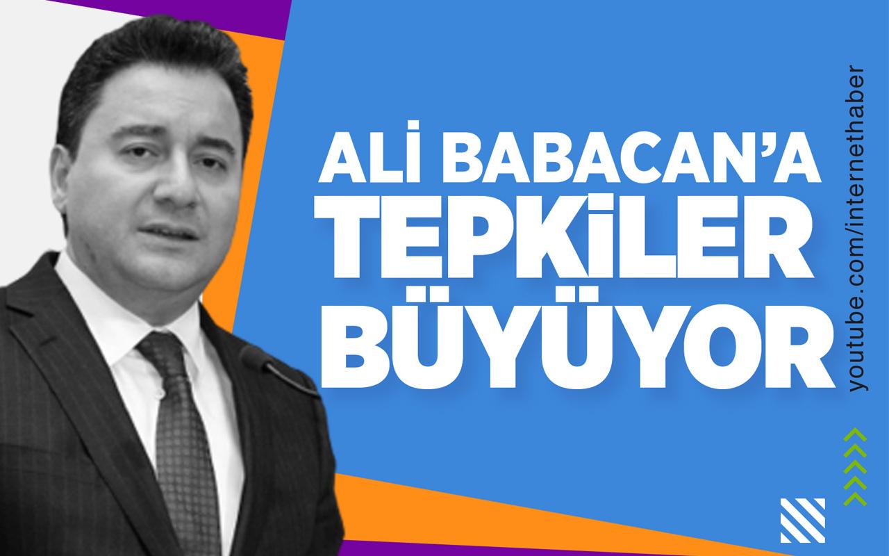 Ali Babacan'a tepkiler büyüyor!