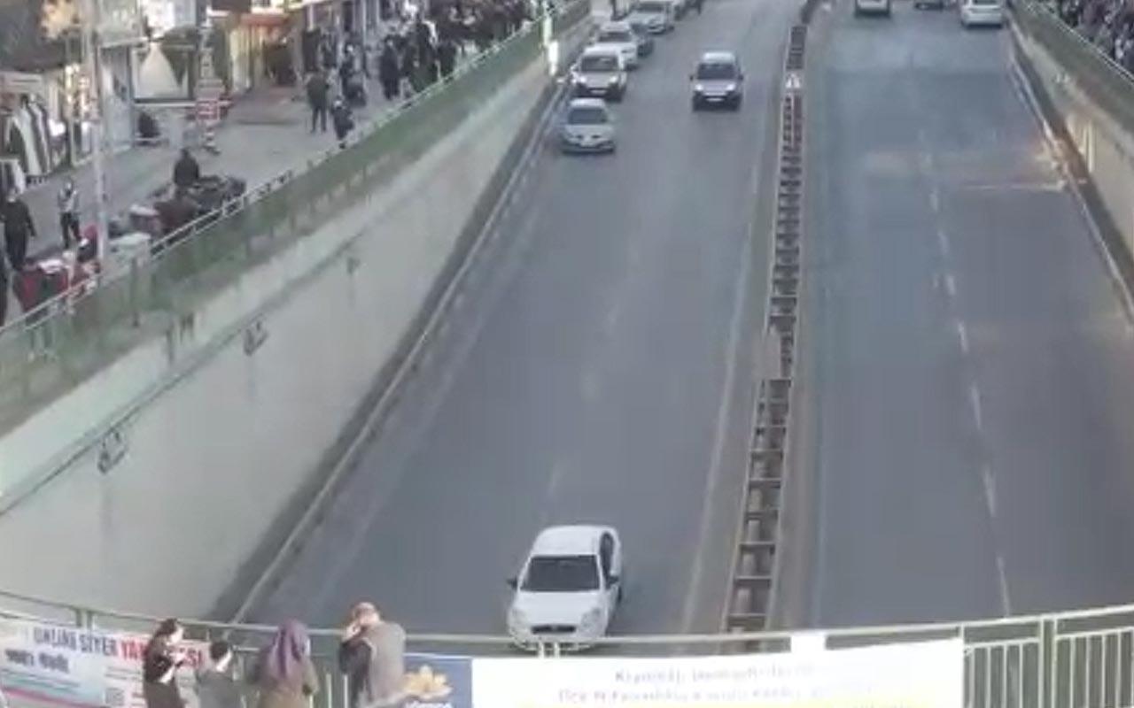 Sultanbeyli'deki meydanlarda dronlu sigara yasağı denetimi