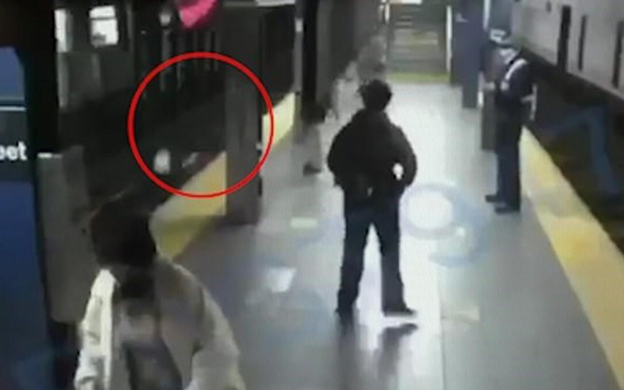 ABD'de acımasız adam tren bekleyen kadını raylara itti