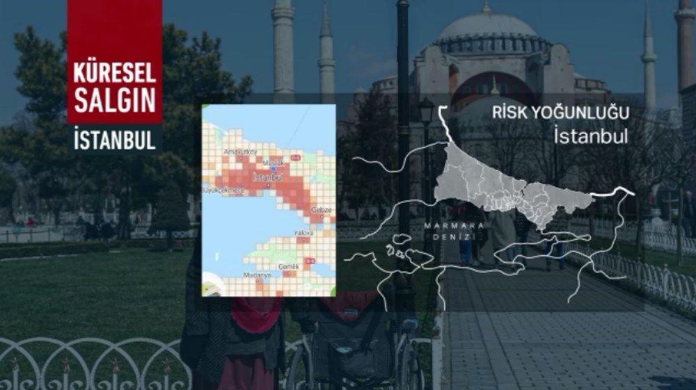 İstanbul'un koronavirüs haritası kıpkırmızı! Risksiz ilçe kalmadı