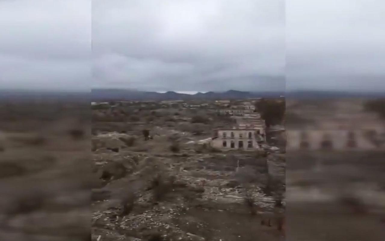 İşgalci Ermenistan geri çekilirken dahi yakıp yıktı! MSB'den 'Ağdam' paylaşımı