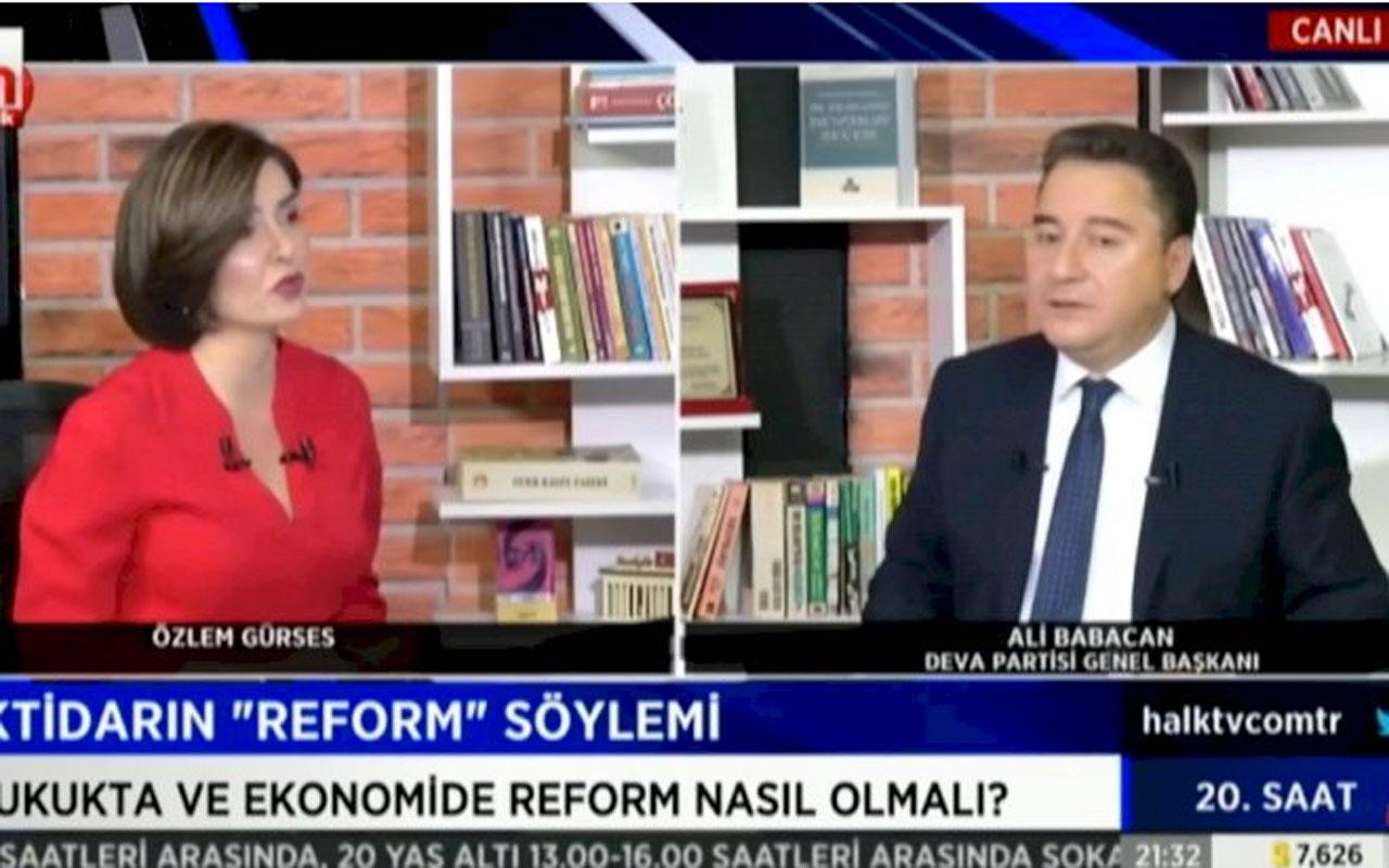Ali Babacan'dan Halk TV'ye canlı yayında övgü: Oldukça özgün bir yayın çizgisi var