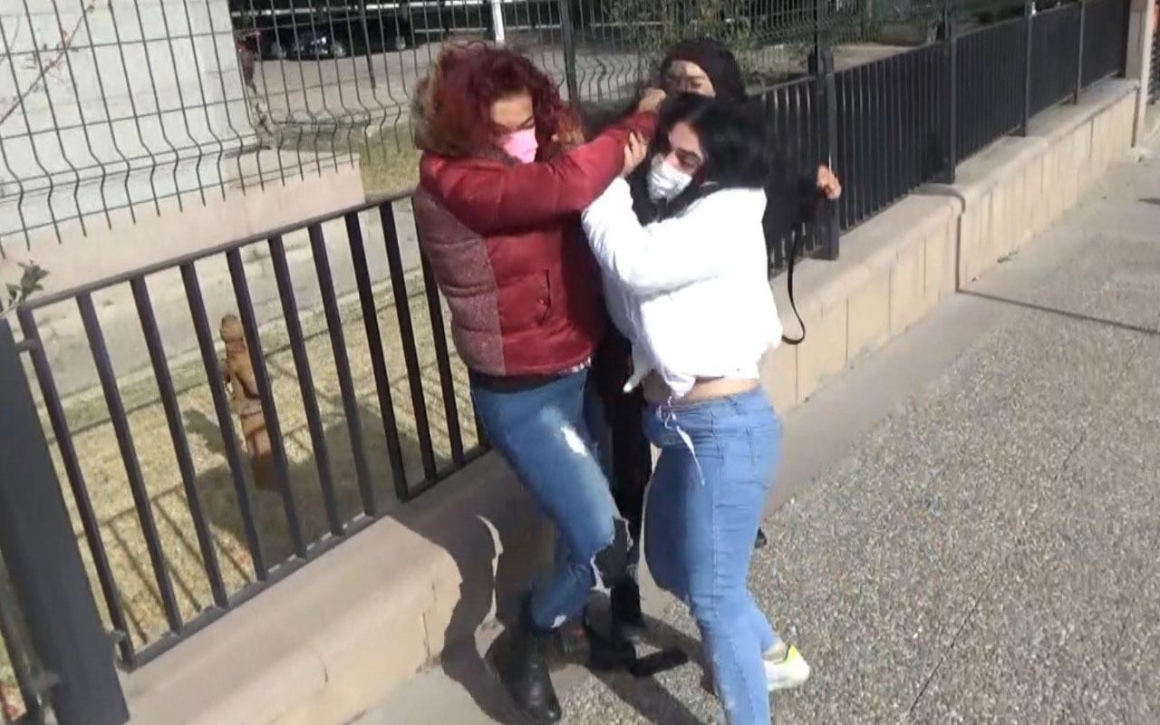 Aksaray'da uyuşturucu tacirinin yakınları kadın muhabiri darp etti