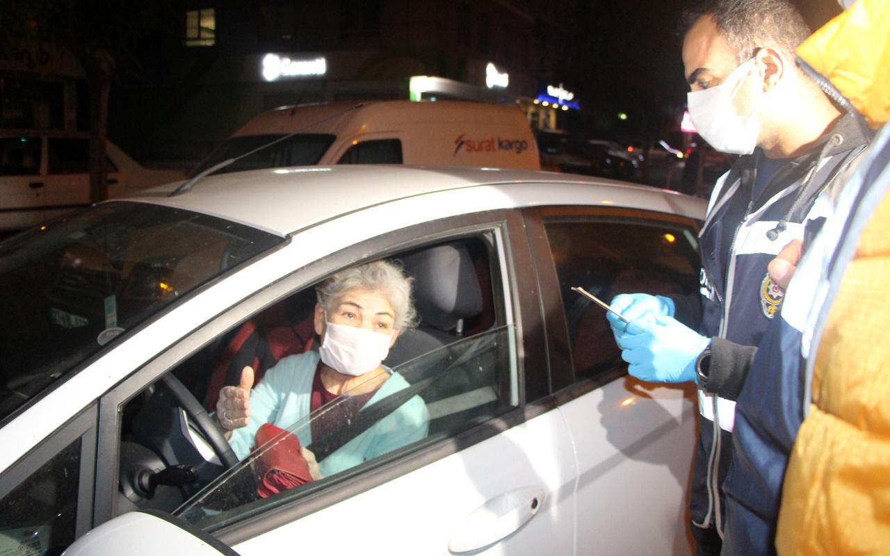 Adana'da kısıtlamalarda polis denetimine takılan kadın sürücü: Haberim yok