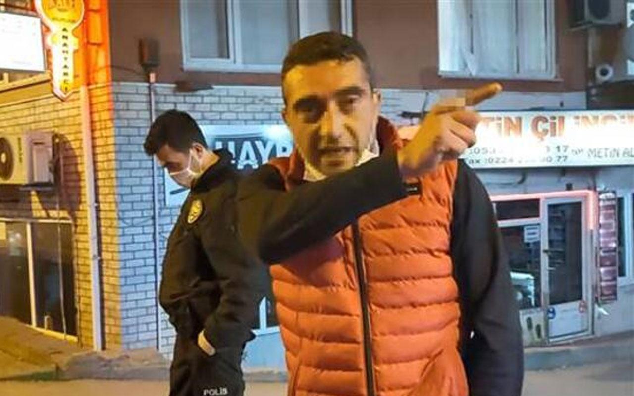Yasakları dinlemedi gazetecileri tehdit etti