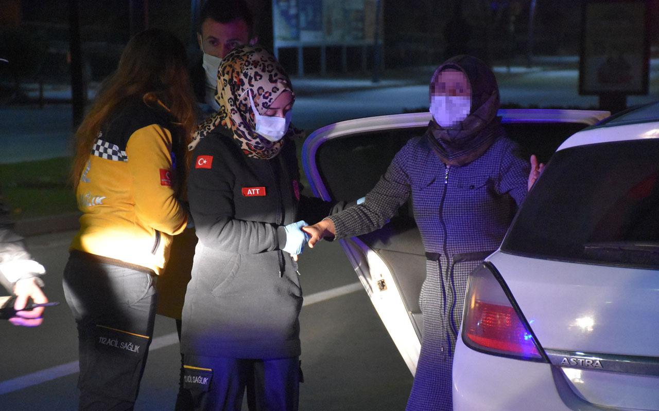 Sivas'ta koronavirüs pozitif hastası annesini eve özel aracıyla götürürken denetime yakalandı