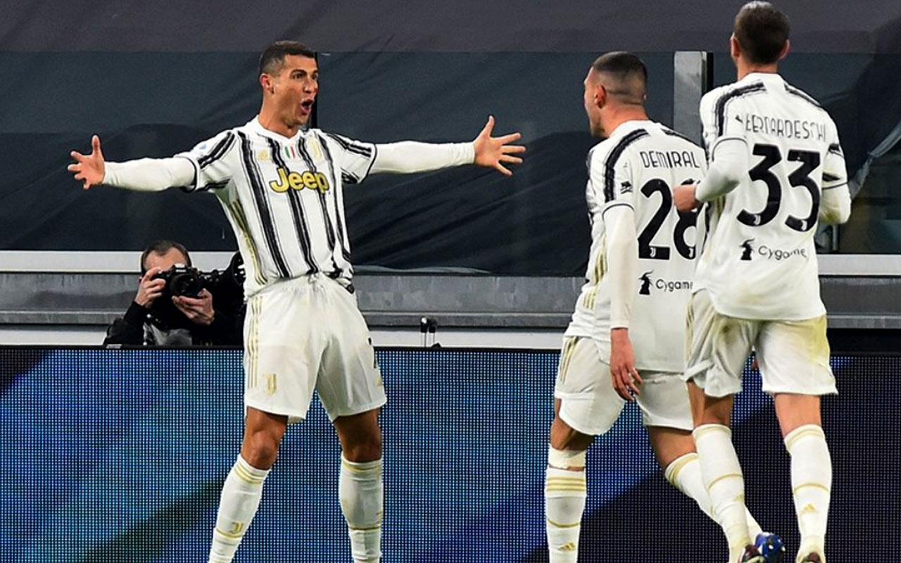 Ronaldo 2 gol attı Juventus galip geldi! Merih Demiral'dan bir asist