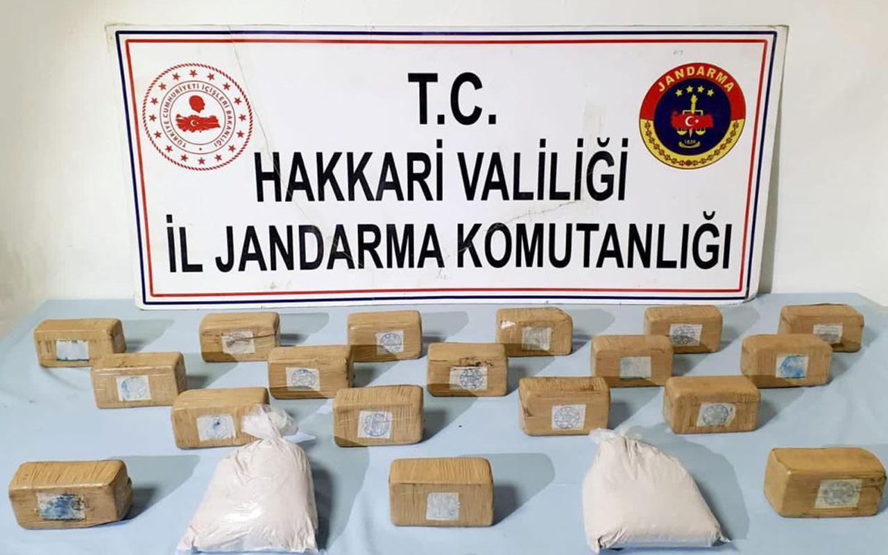 PKK'ya ağır darbe! 11 kg uyuşturucu maddeye el konuldu