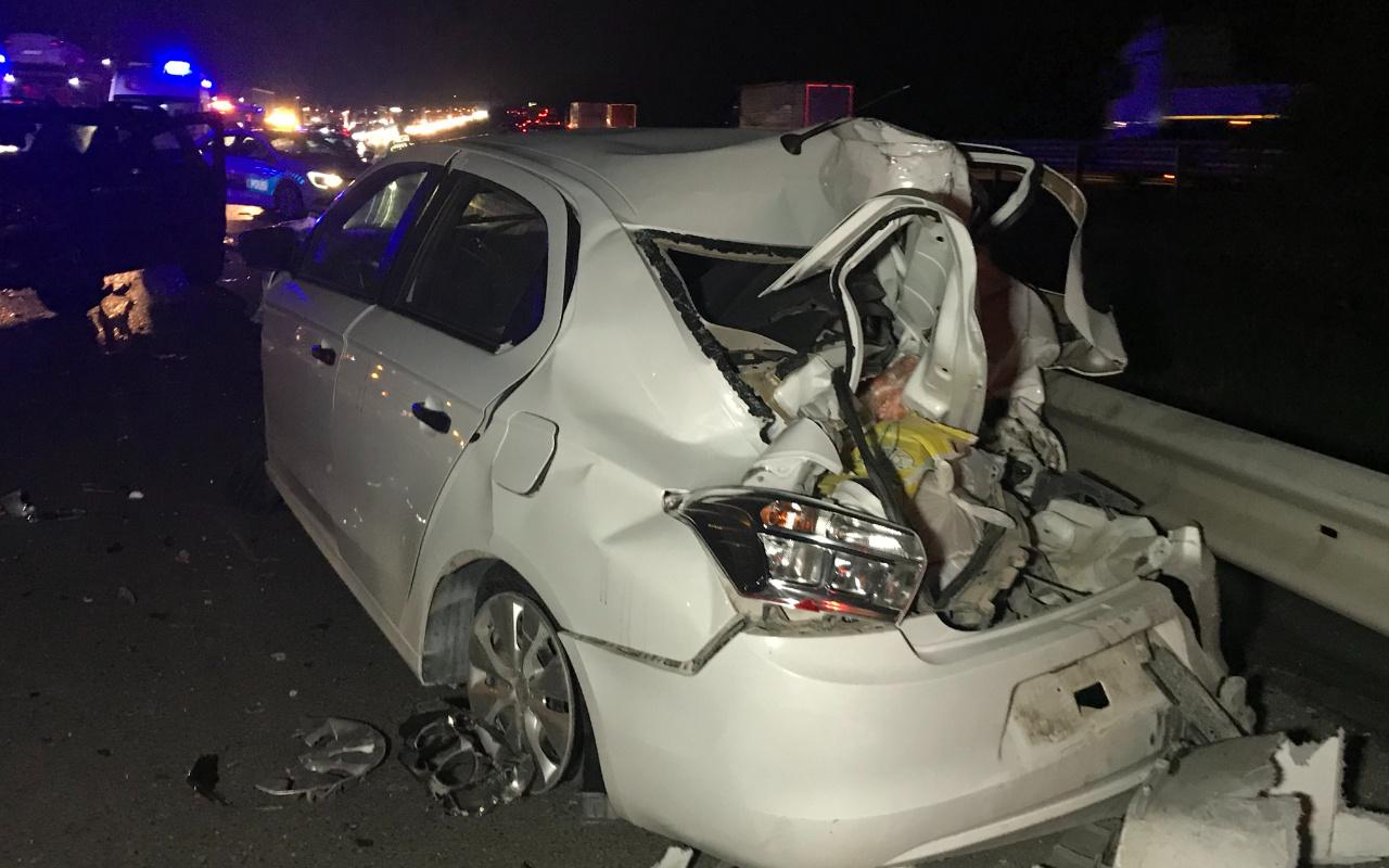 Düzce'de TEM Otoyolu'nda zincirleme kaza! Ortalık savaş alanına döndü