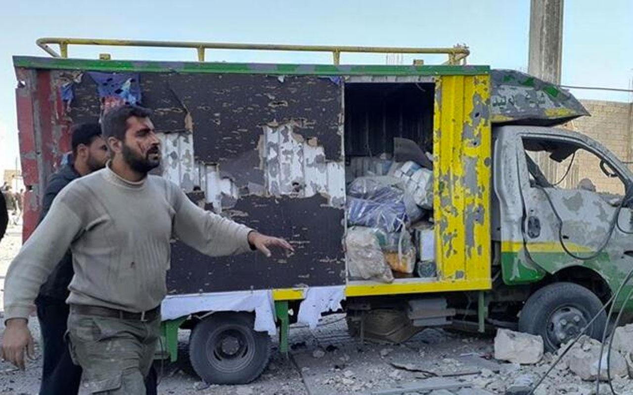 El Bab'da terör saldırısı! Bomba yüklü araç patlatıldı