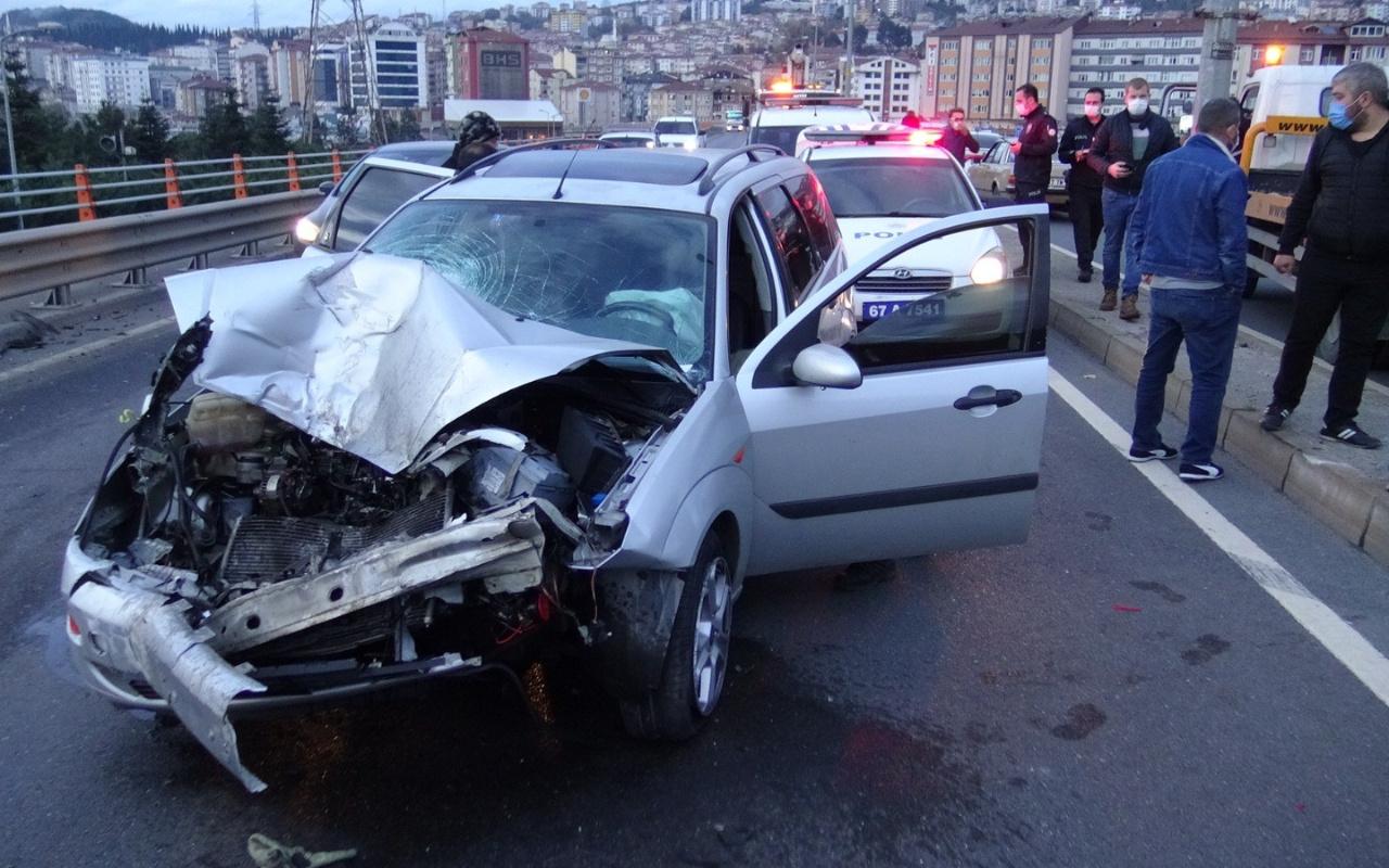 Zonguldak'ta ehliyetsiz sürücü ortalığı birbirine kattı! Gazetecilere tepki gösterdi