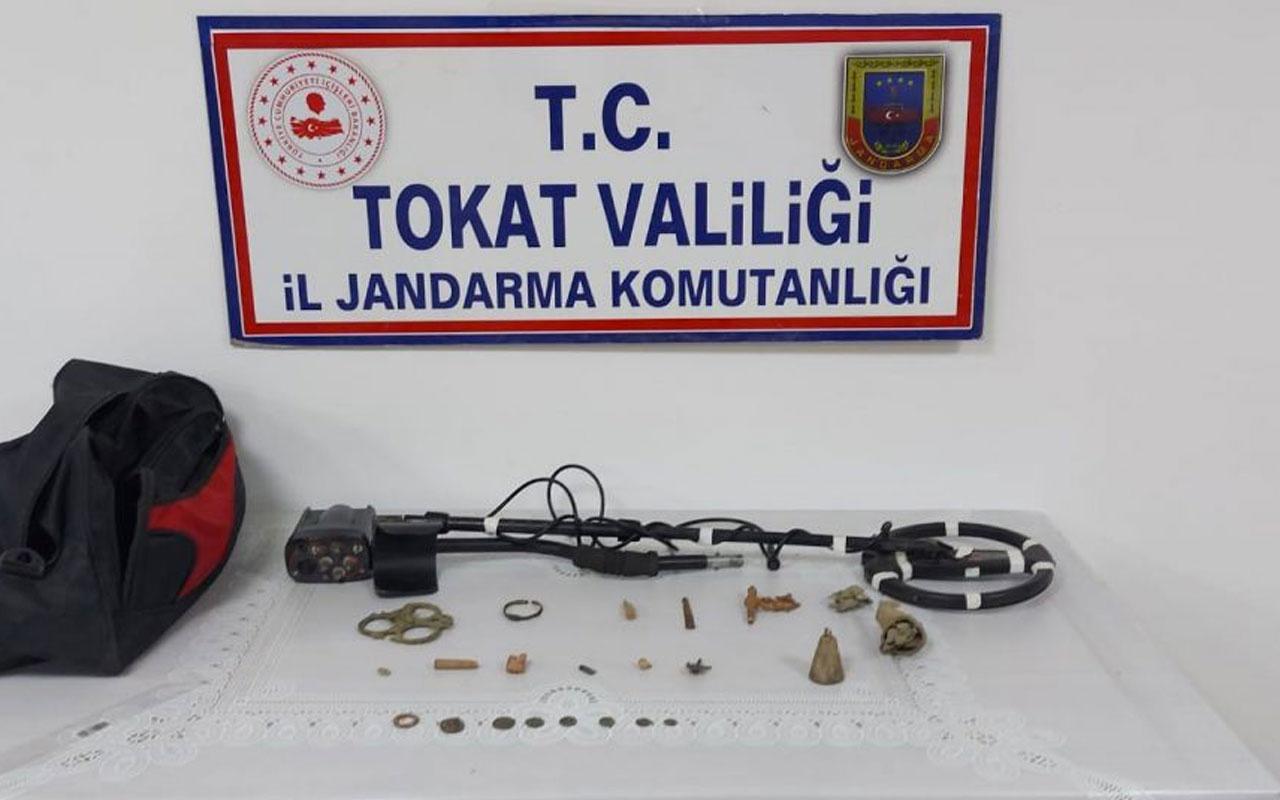 Tokat'ta tarihi eser operasyonu: 21 parça ele geçirildi