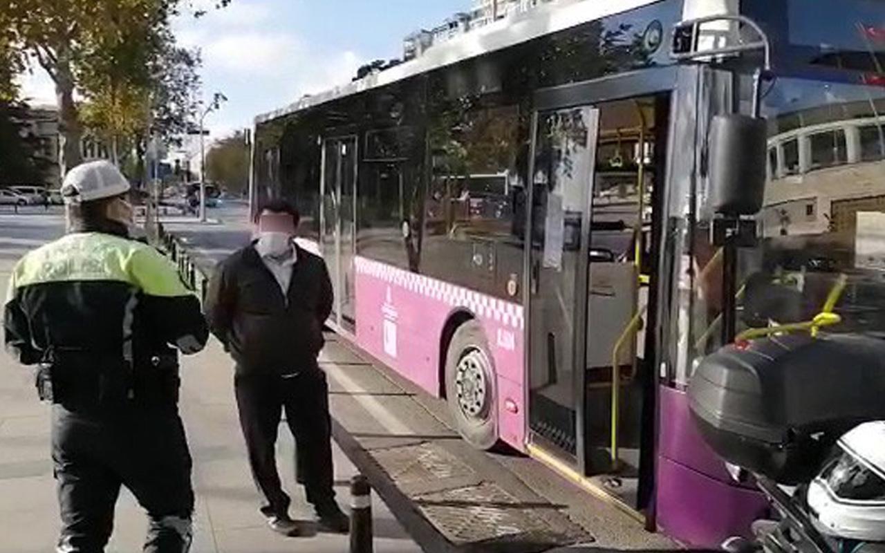 Beşiktaş'ta koronalı otobüs şoförü direksiyon başında yakalandı