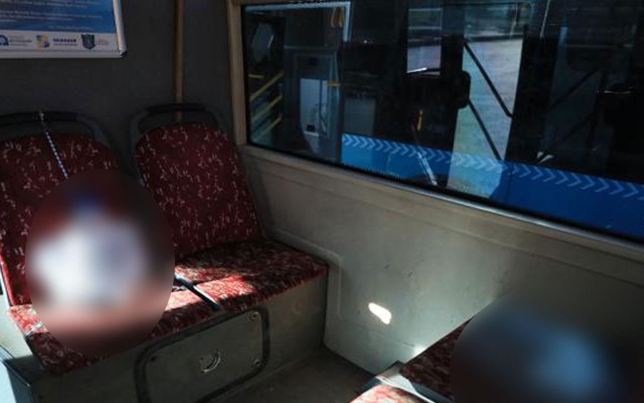 Antalya'da ilginç çözüm! Otobüste 5 litrelik plastik su bidonuyla koronavirüs önlemi aldı