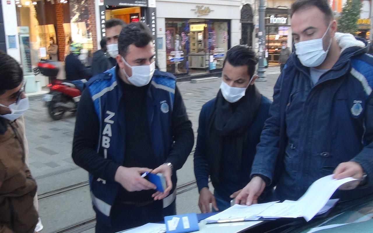 Taksim'de denetim! 'Televizyon izlemiyorum, haberim yok' dedi cezadan kurtulamadı