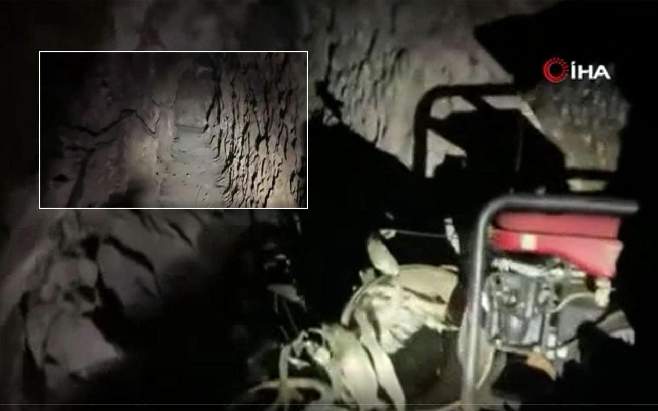Irak'ta terör örgütü PKK'nın karargâh mağarası tespit edildi MSB paylaştı