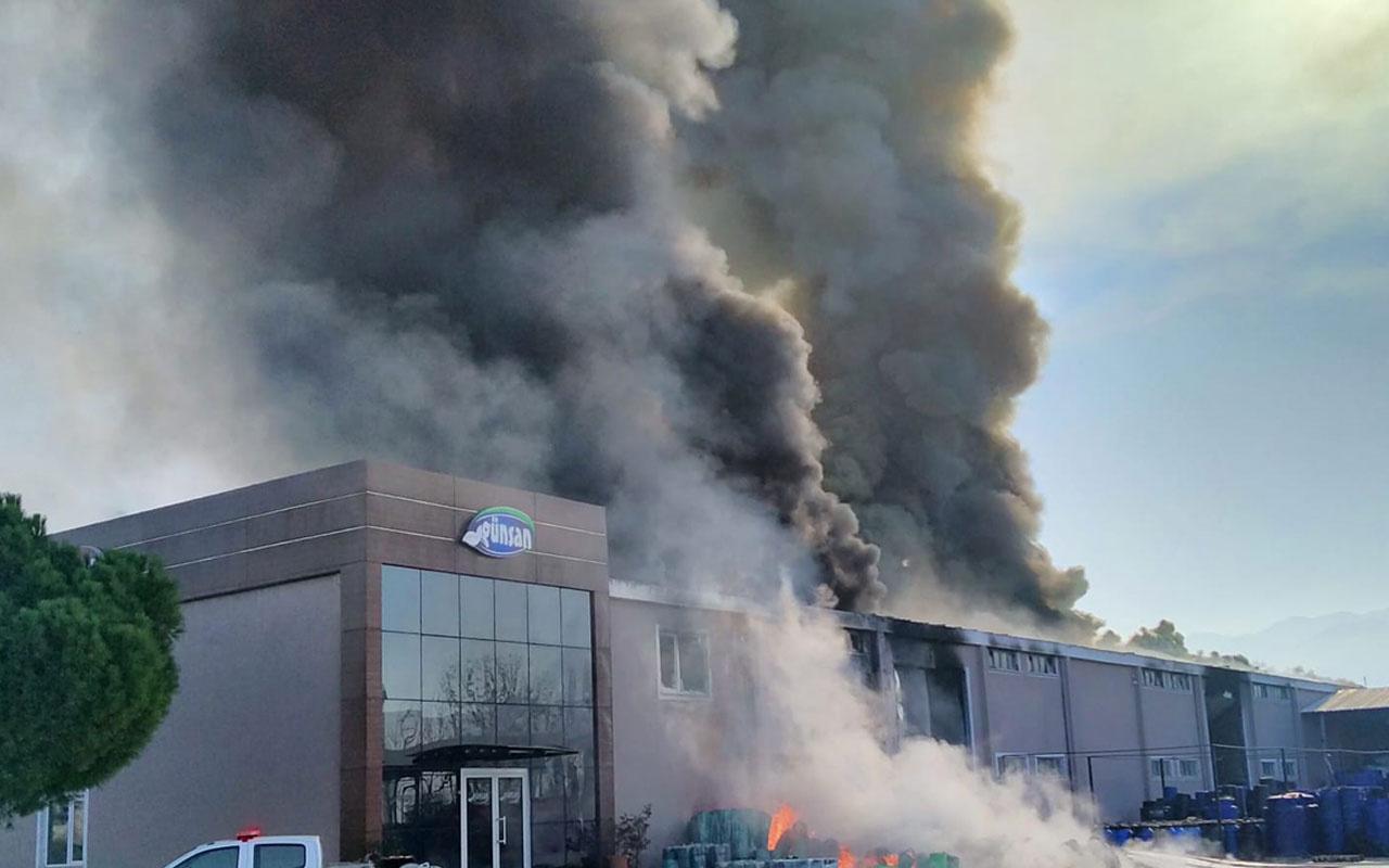 Balıkesir'de turşu fabrikasında yangın çıktı!Ekipler alevlere müdahale ediyor