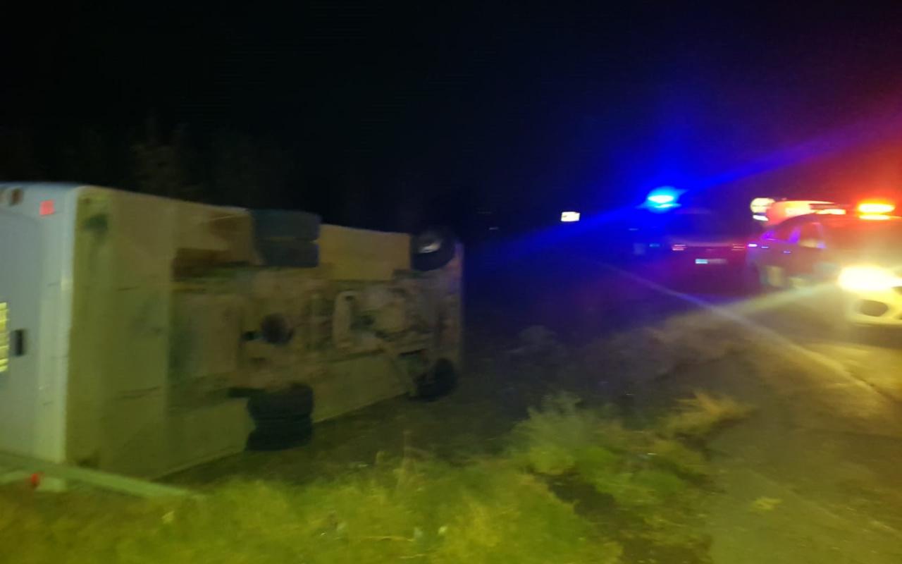 Mersin'de polis midibüsü şarampole devrildi: 1 şehit, 4 yaralı