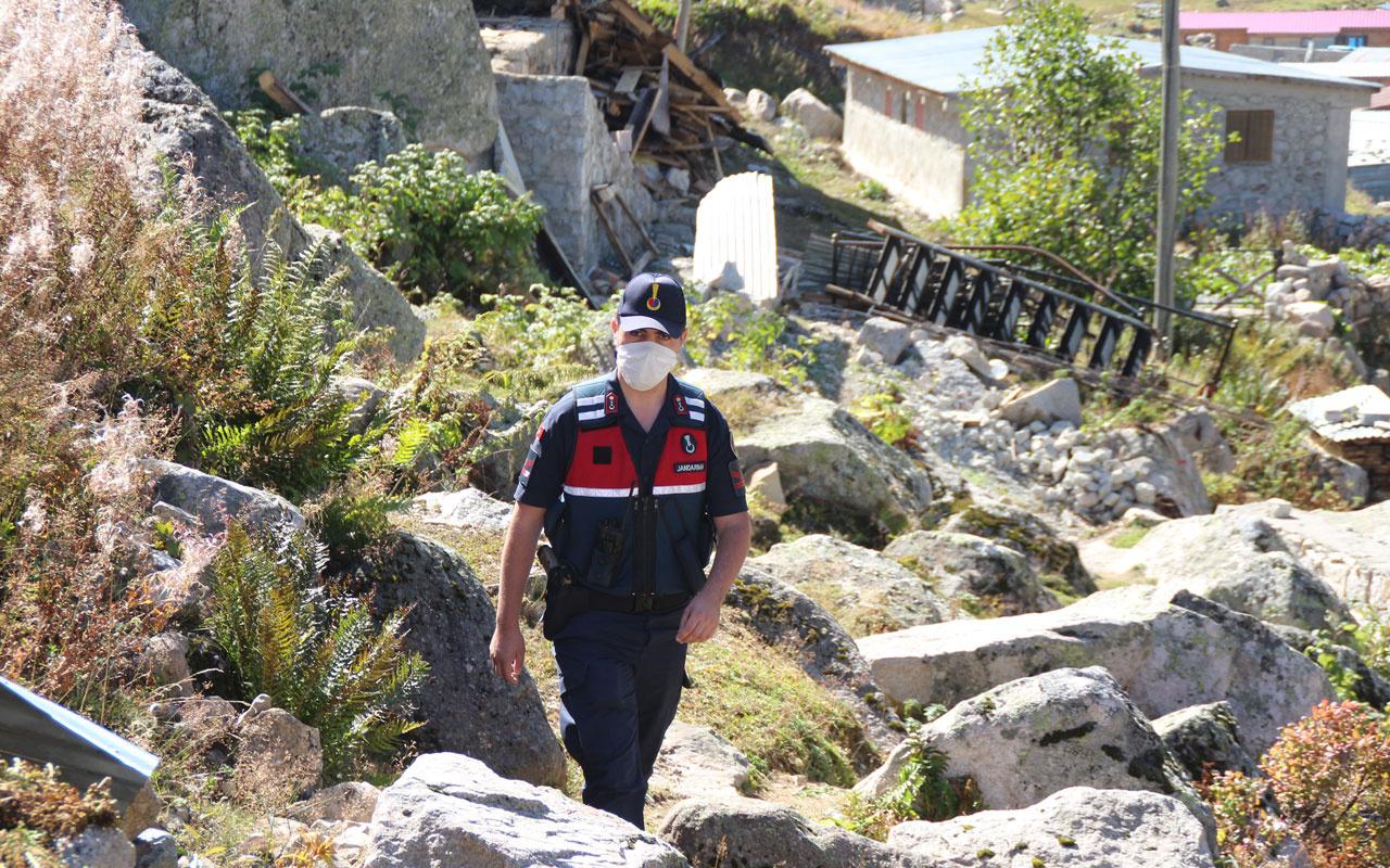 Trabzon'da 6 yayla evi soyuldu komandolar operasyonları sıklaştırdı