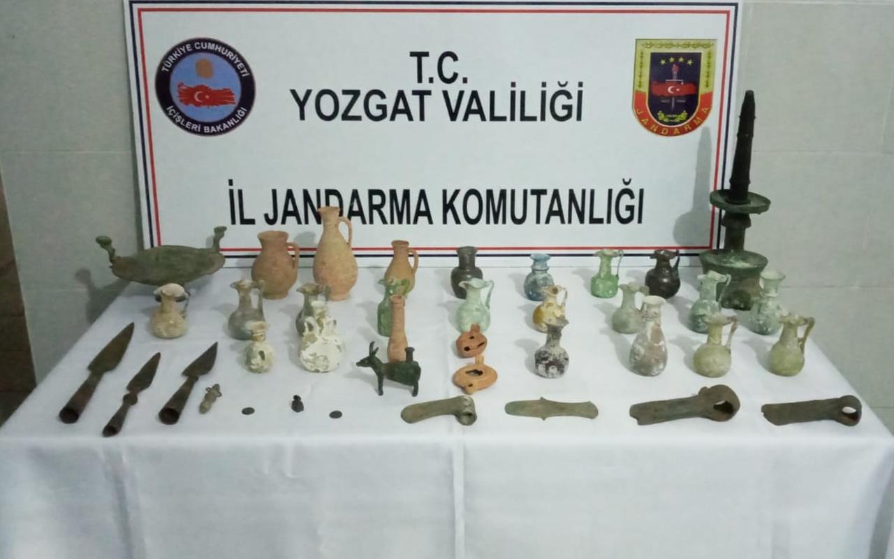 Yozgat'ta dinlenme tesisinde ele geçirildi! Hepsi birbirinden değerli