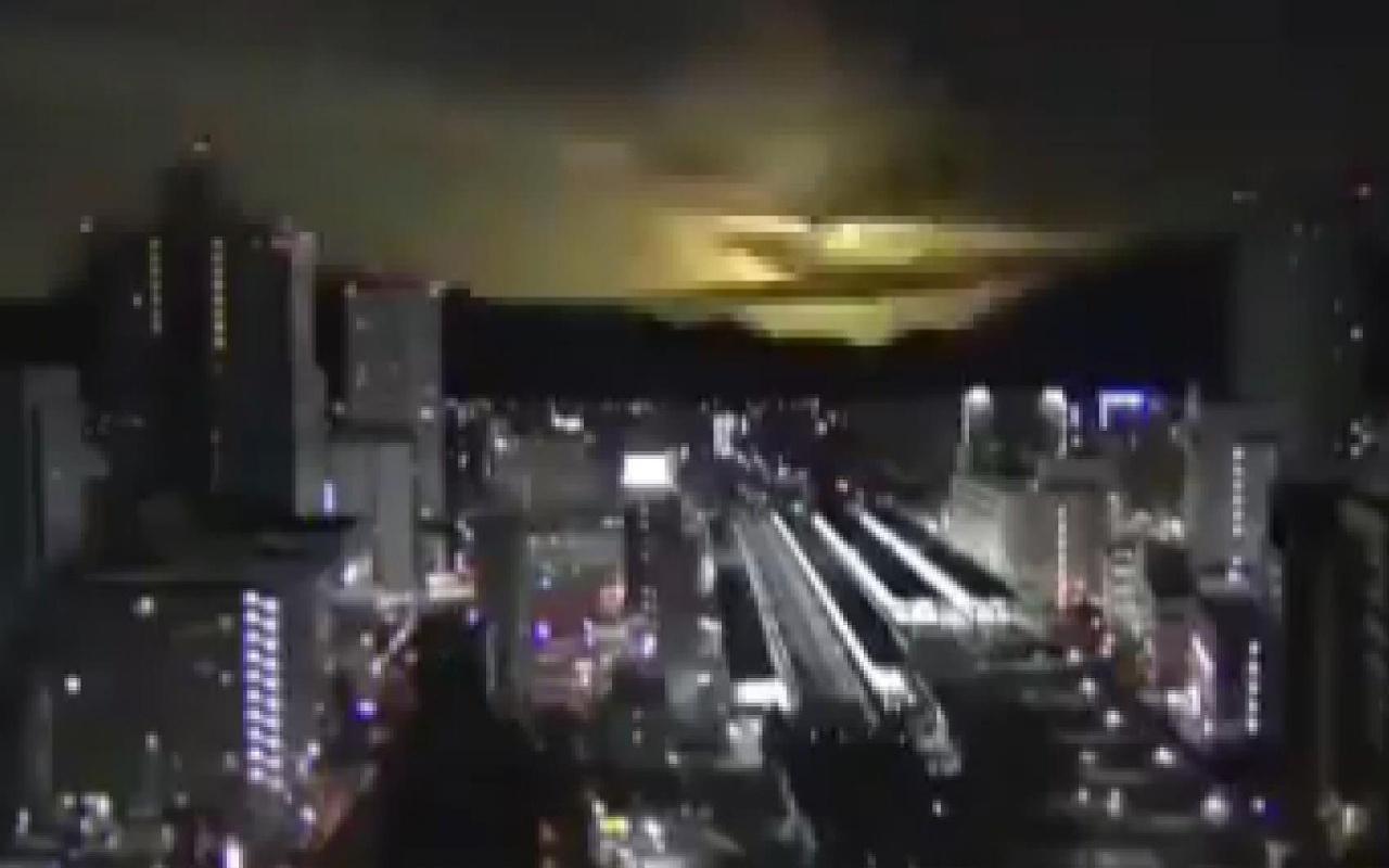 Japonya'da gece yarısı gökyüzü birden aydınlandı! Sosyal medyada olay oldu