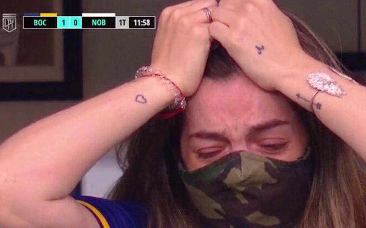 Maradona'nın kızının en zor maçı! İlk kez babası olmadan izledi