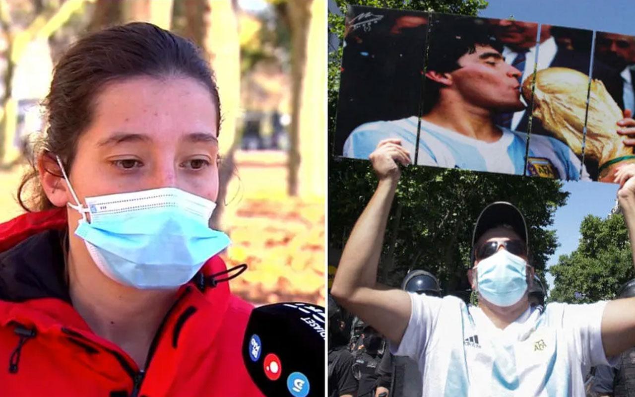 Kadın futbolcu Paula Dapena'dan Maradona'ya olay protesto: Ölüm tehditeri alıyorum
