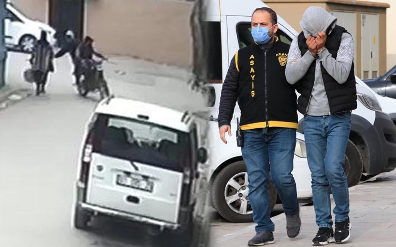 Adana'da 1 lira 75 kuruşluk kapkaç yaptı! Yakalanınca yüzünü kapattı