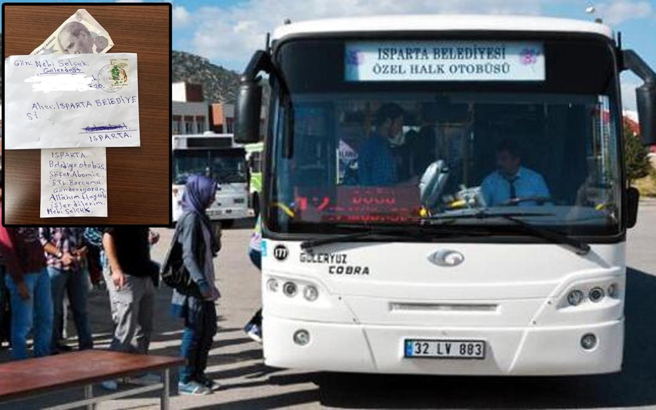 Isparta'da belediyeye gelen mektup herkesi duygulandırdı