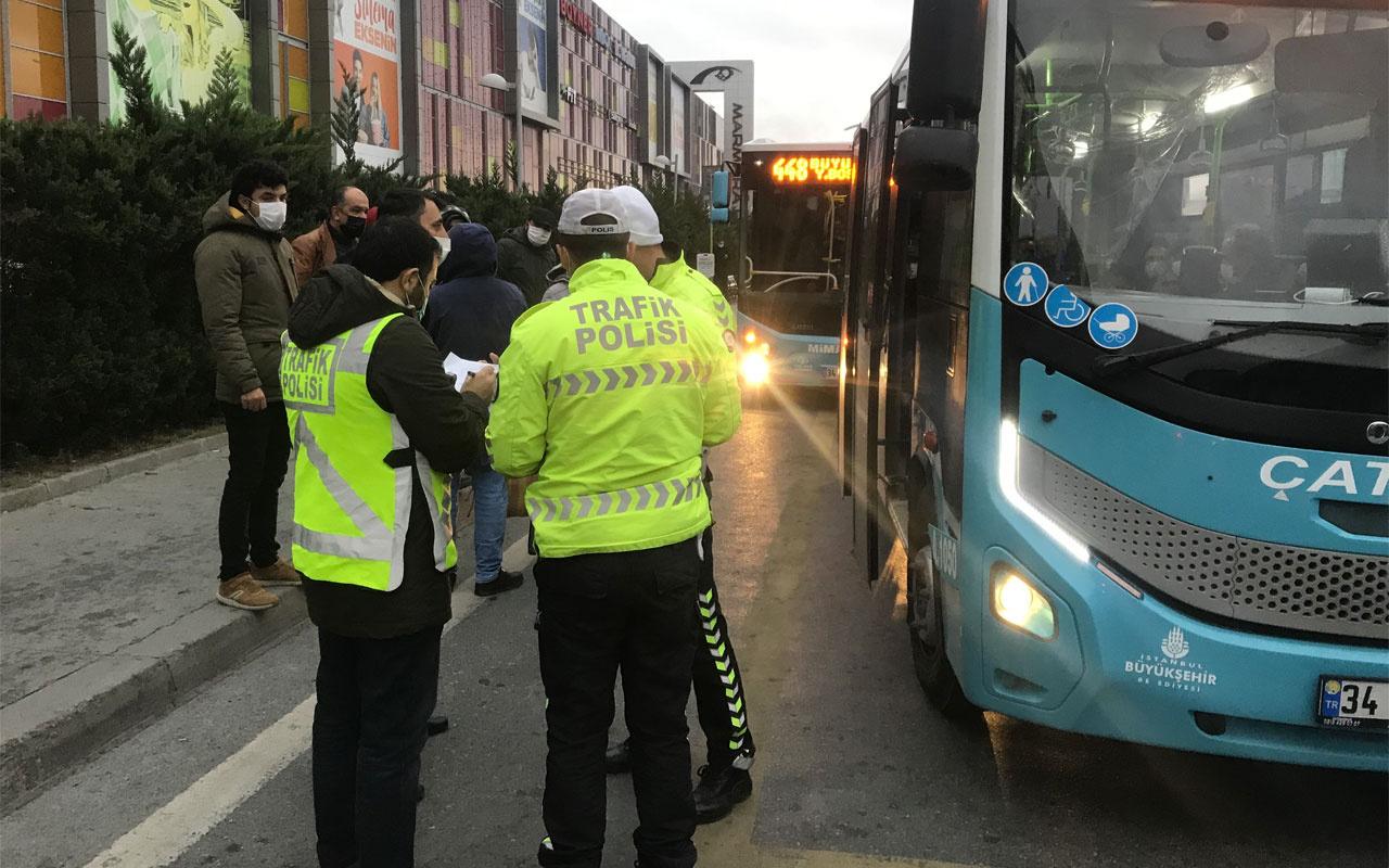 Minibüsten indirilen fazla yolcudan polise ilginç tepki