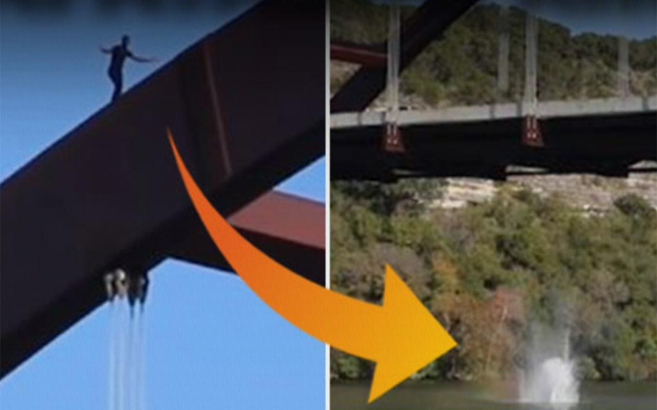 Köprüden nehre atlayan ABD'li YouTuber kafatasını kırdı