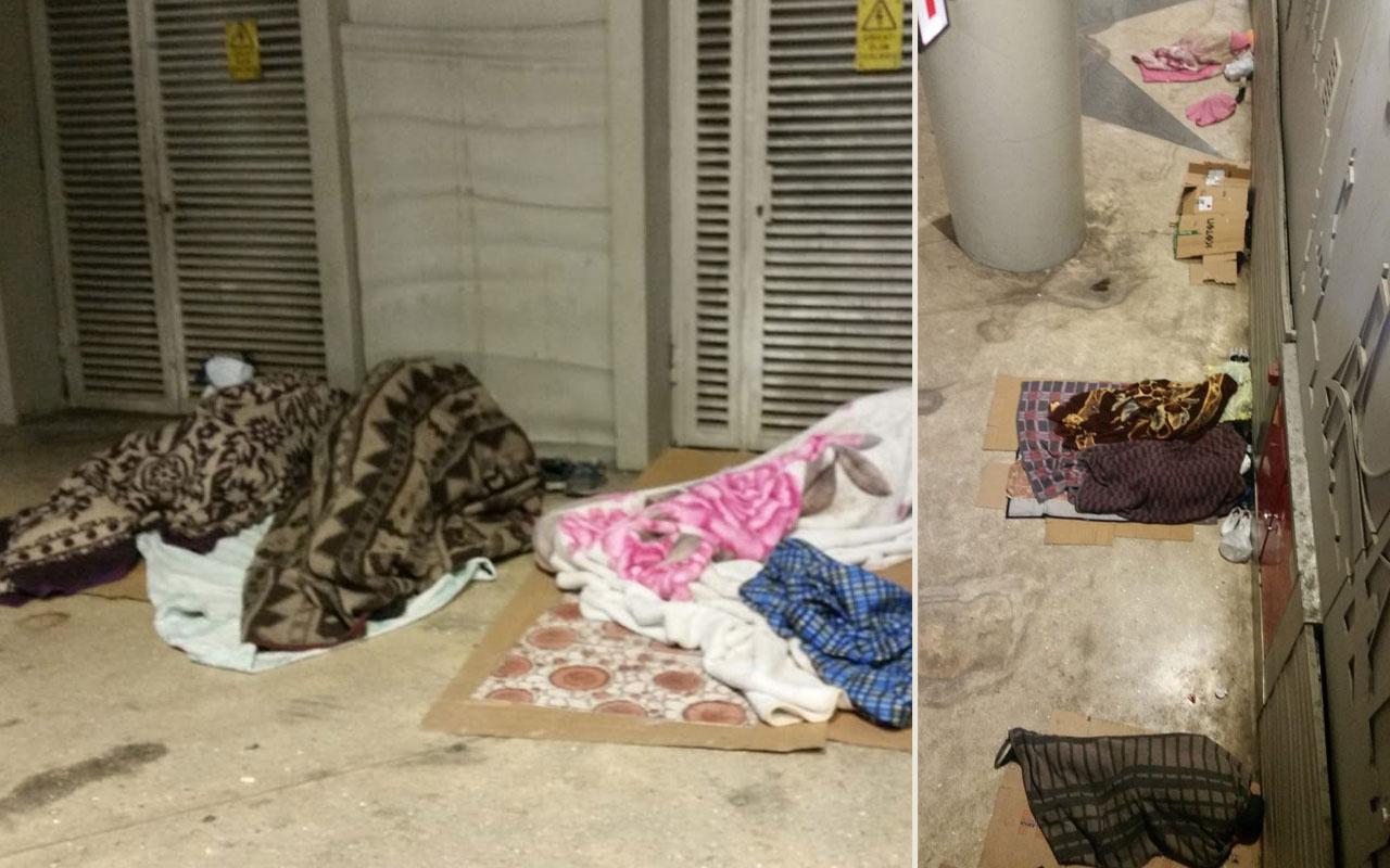 İstanbul'da yürek sızlatan görüntü! Sokağa çıkma yasağı evsizleri ortaya çıkardı