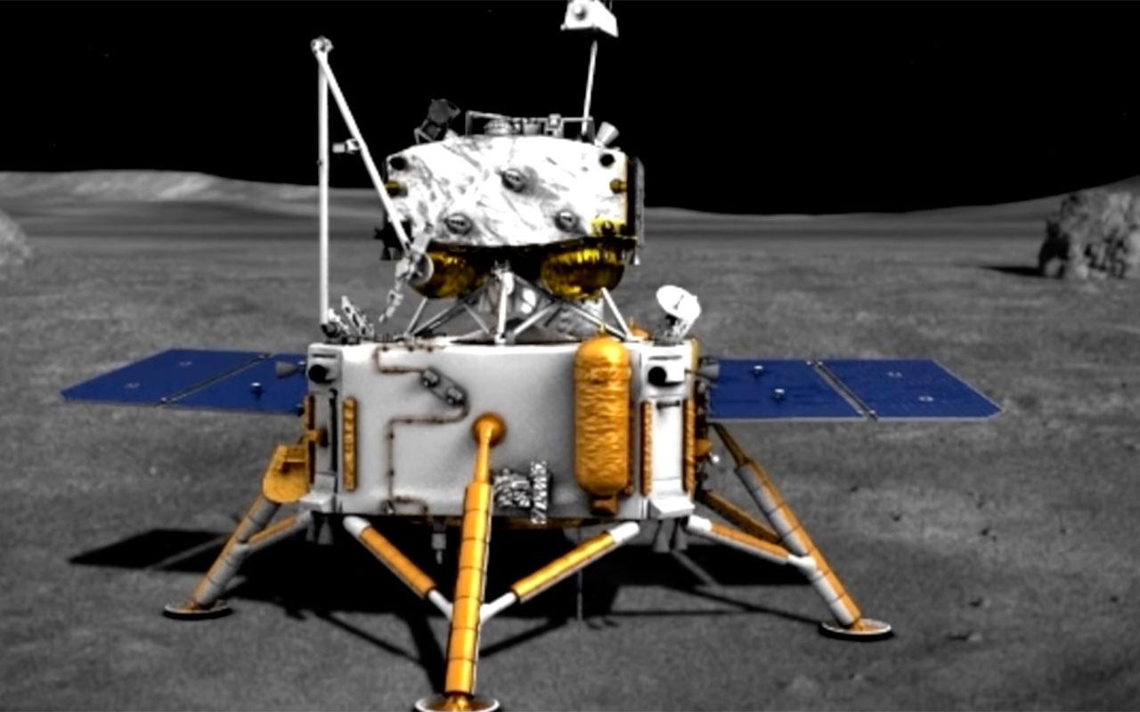 Çin'in Ay'a inen uzay aracı Chang'e 5 örnek toplama işlemini başarıyla gerçekleştirdi