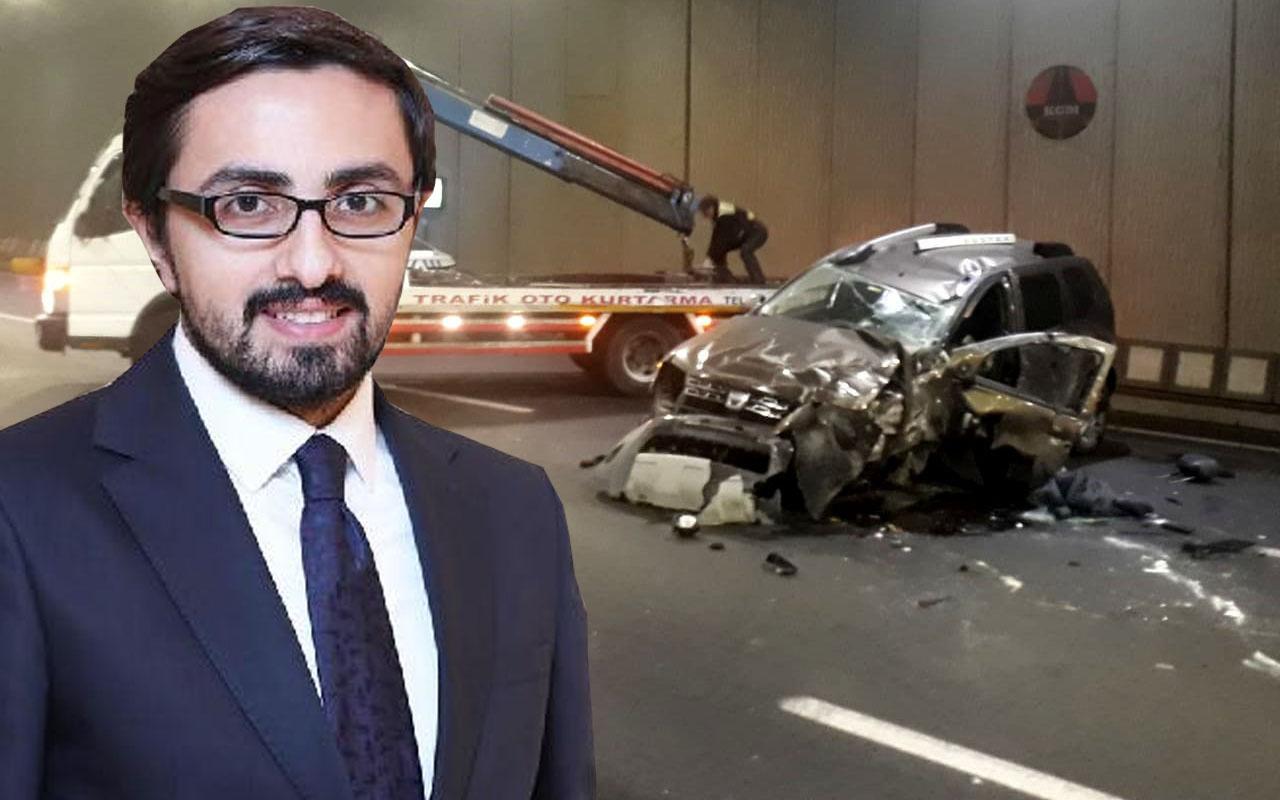İçişleri Bakanlığı'nda bir dönem basın görevlisi olan Ahmet Aydın kazada yaralandı