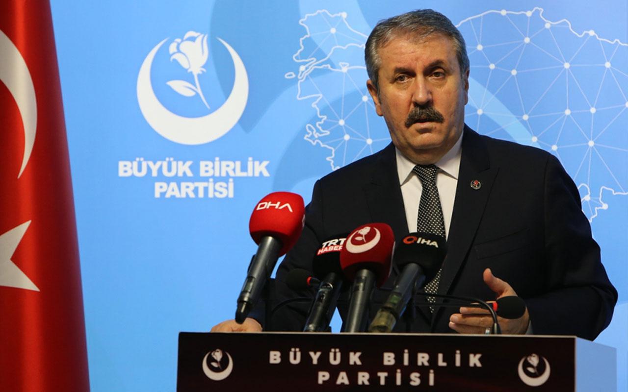 BBP lideri Mustafa Destici'den CHP'li vekile sert tepki: Edepsizlik ve hadsizliktir