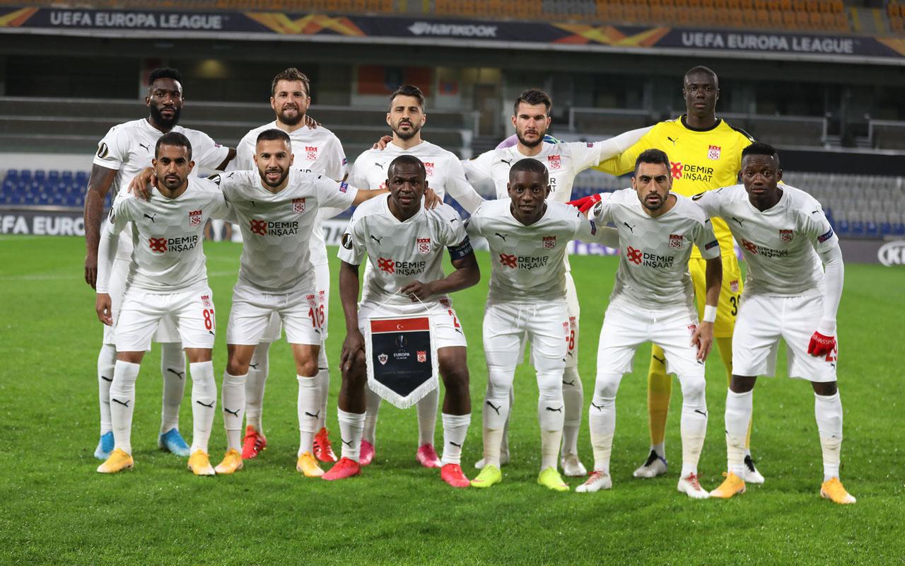 Sivasspor'da UEFA maçı öncesi koronavirüs şoku