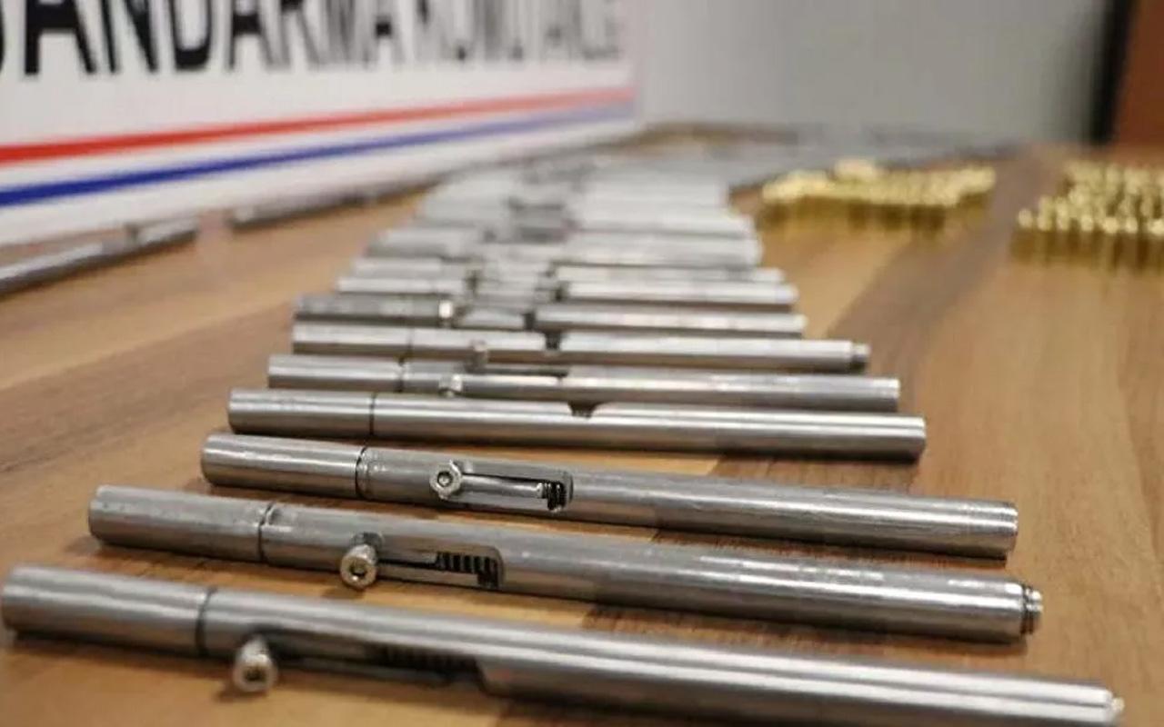 Olayın adresi Denizli! 50 adet kalem suikast silahı ele geçirildi