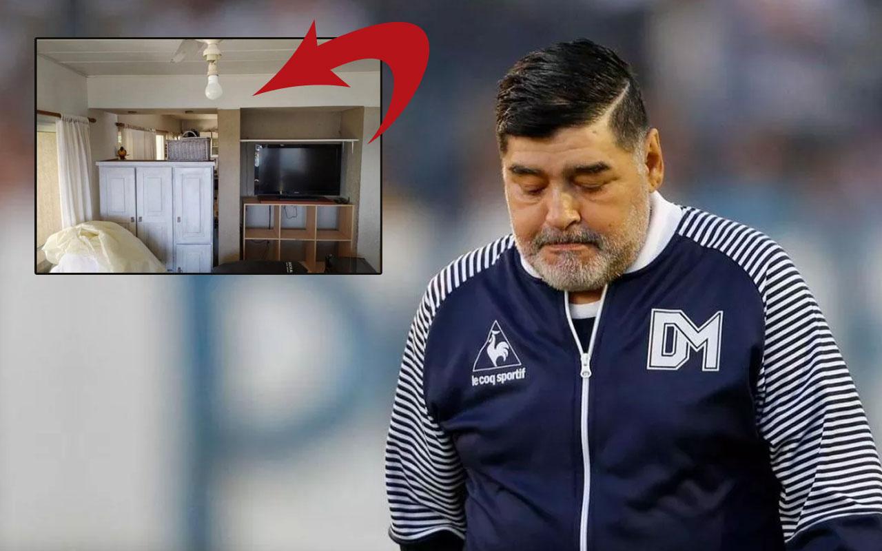 Maradona'nın öldüğü odanın fotoğrafları ortaya çıktı! Kahreden detaya bakın
