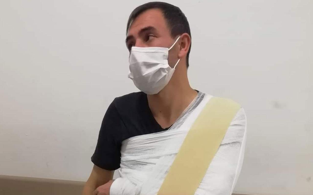 Kayseri'de ambulanstan izinsiz maske ve eldiven alıp, itiraz eden şoförü darbettiler