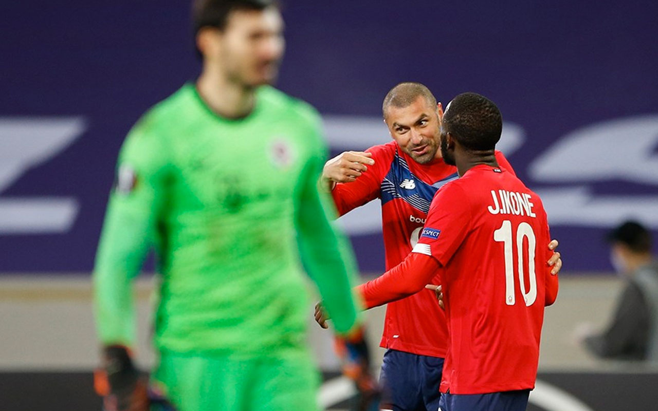 Burak Yılmaz 4 dakikada şov yaptı Lille tarihine geçti