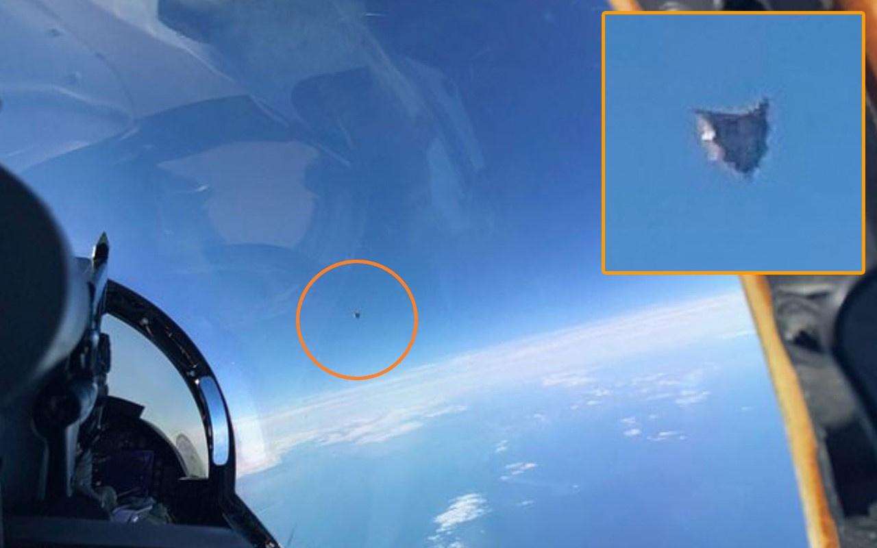 Pentagon'un UFO raporundan savaş pilotunun çektiği fotoğraf ortaya çıktı