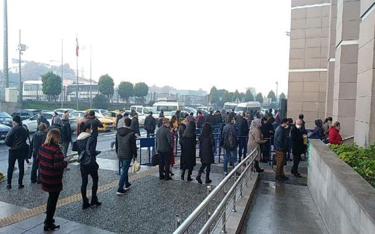 Artık zorunlu! İstanbul Adalet Sarayı'nda HES kodu kuyruğu