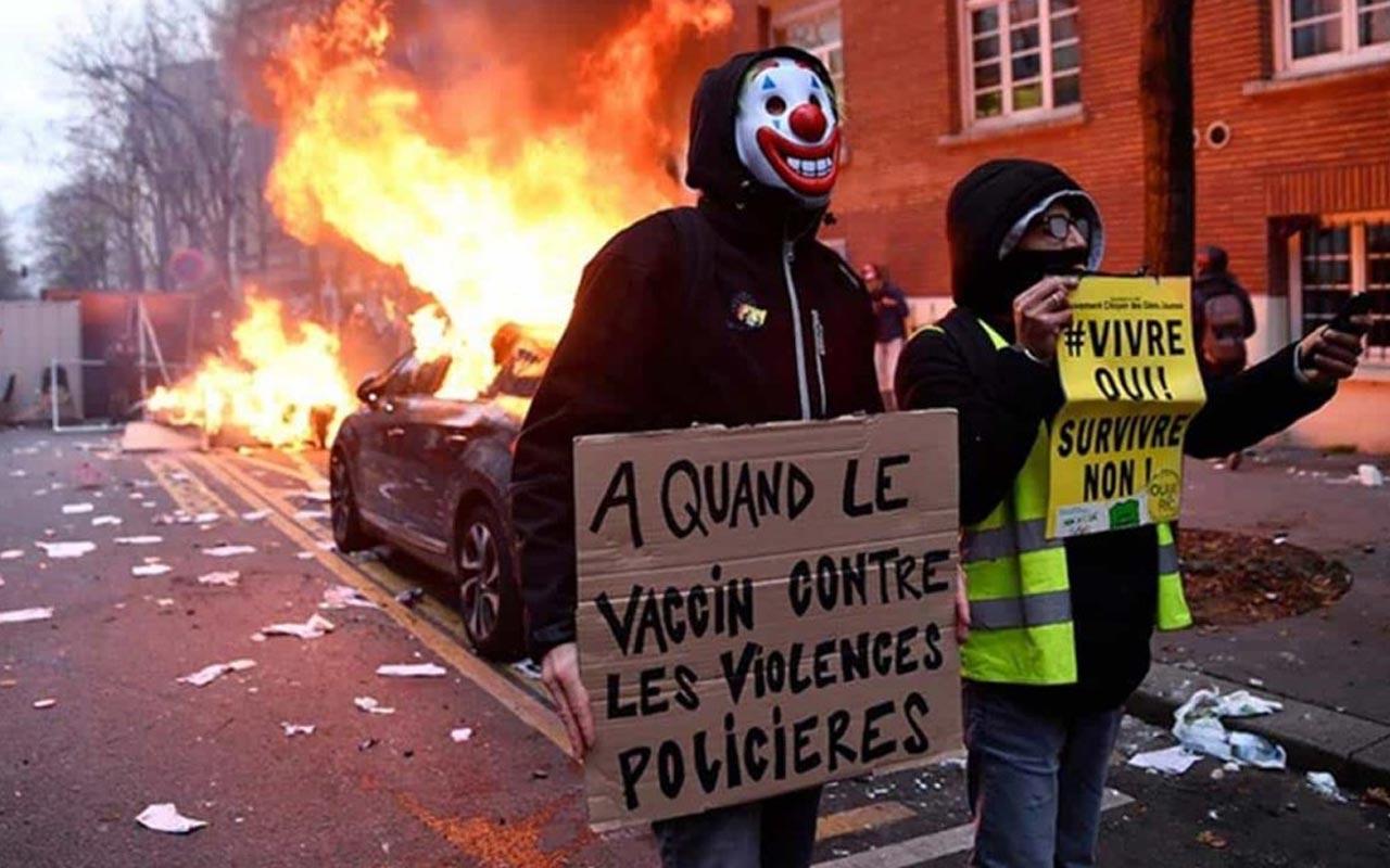 Fransa'da yeni güvenlik yasa tasarısına protestolar sürüyor! 22 kişi gözaltında