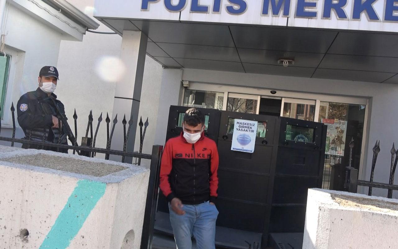Aksaray'da ekmek almaya maskesiz giden genç polise yakalandı