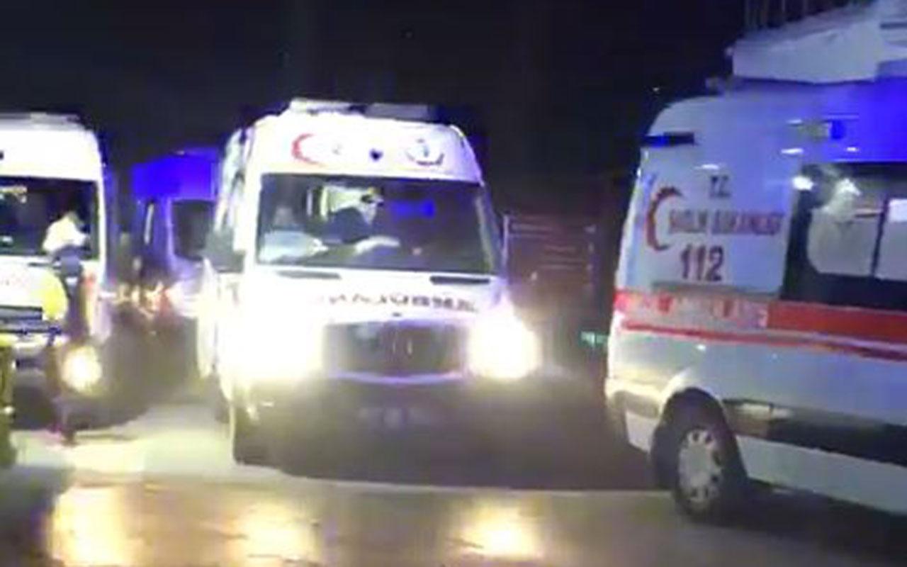 Vakaların arttığı Trabzon'da pandemi hastanesi önünde korkutan ambulans yoğunluğu!