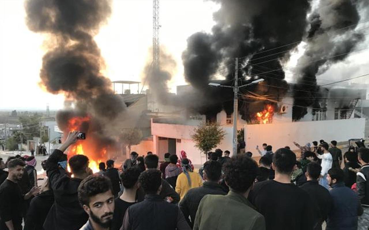Irak Kürt Bölgesel Yönetimi'nde protestocular binaları ateşe verdi: 15 yaralı
