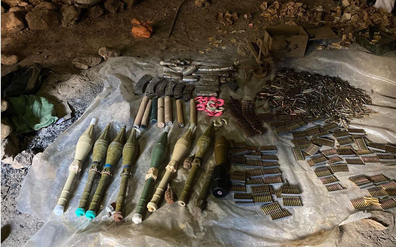 Pençe-Kaplan Operasyonu'nda çok sayıda silah ve mühimmat ele geçirildi