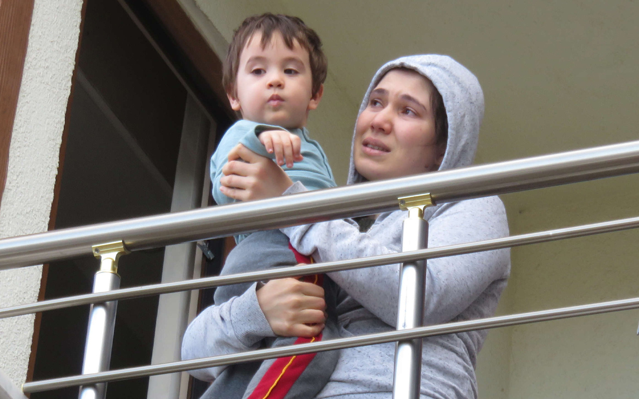 Ataşehir'de oğluna sarılarak gözyaşı döktü! Her şey bir anda oldu